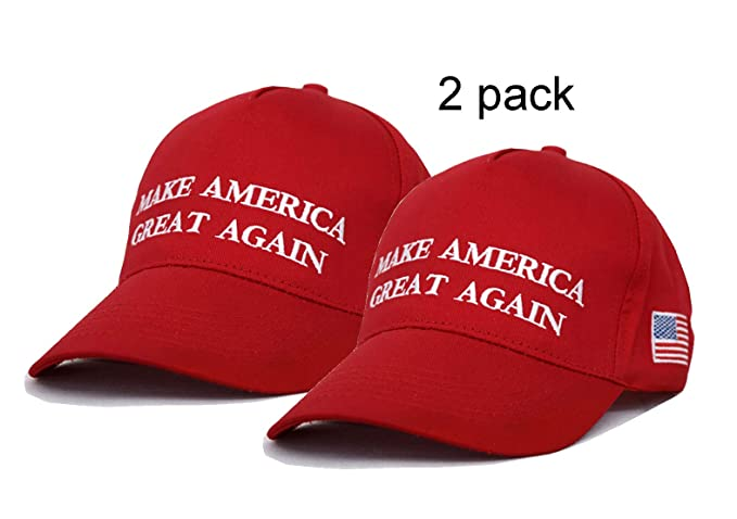 CHUNG Adult Adjustable Trump Hat Cotton Cap Make America Great Again (One  Size f8a77dd51bb3