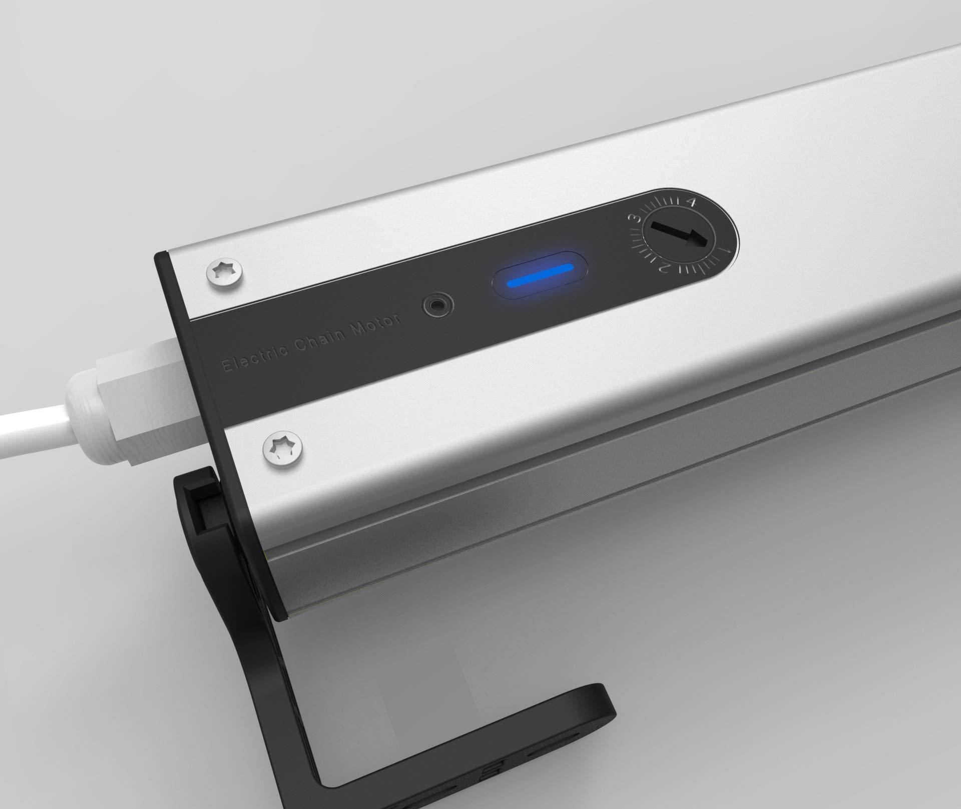 SimpleSmart 10cm-40cm Adjustable Electric Chain Window Opener Automatic Windows Opener Motor Actuator (24V Window Opener Kit)