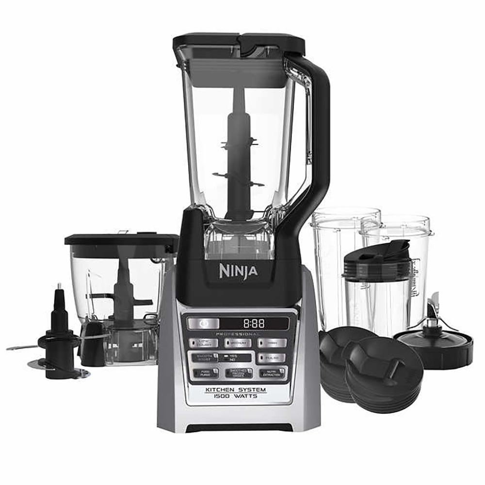 Ninja Auto-iQ Total Boost Kitchen Nutri Blender System with 1500 Watts professional base- BL687CO (Certified Refurbished) SharkNinja BL687CO-RB