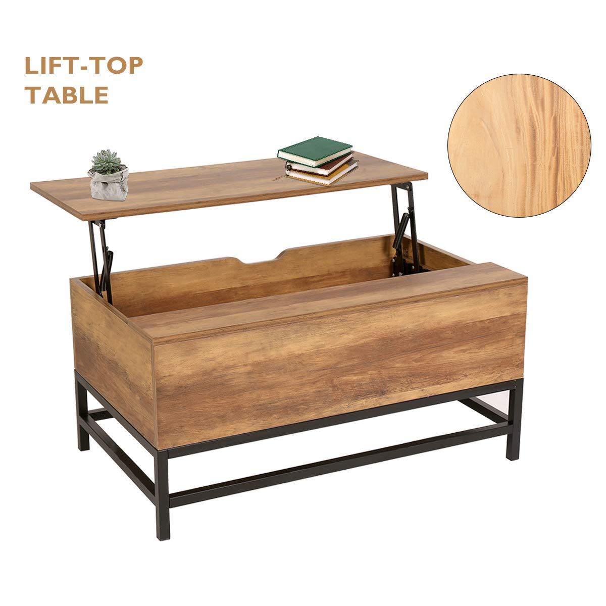 NeuTone Mesa con – Función Hub Mesa Mesa de Madera con cajón Oculta para salón y Oficina