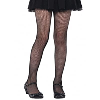 amscan Black Fishnet Tights - Child M/L: Toys & Games