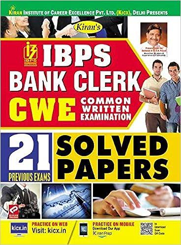 Kiran's IBPS Bank Clerk (CWE 2018) Solved Papers English - 2194 - byKiran Prakashan