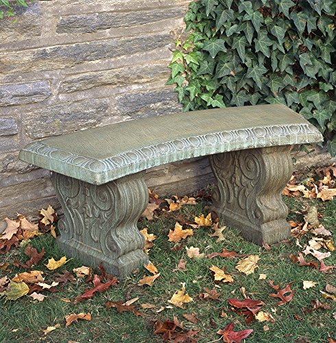 Campania International BE-03-CB Traditional Curved Bench,...