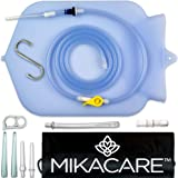 Mikacare Enema Bag Kit Clear Non-Toxic Silicone. for Coffee and Water Colon Cleanse. 6 Foot Long Hose, BPA and Phthalates Free, 6 Tips 4 Quart