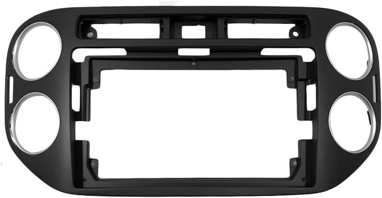 Mascherina di montaggio per autoradio da 9 pollici nero per Volkswagen Tiguan LEXXSON 2010-2016
