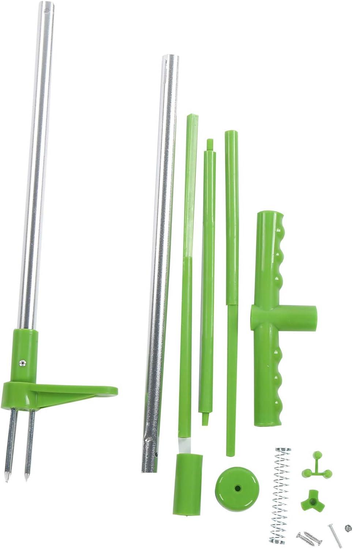 Herramienta de extracción de malezas, herramienta de eliminación de malezas manual para jardín al aire libre, raspador manual de pie con 3 garras, kit de mano industrial para quitar raíces de plantas