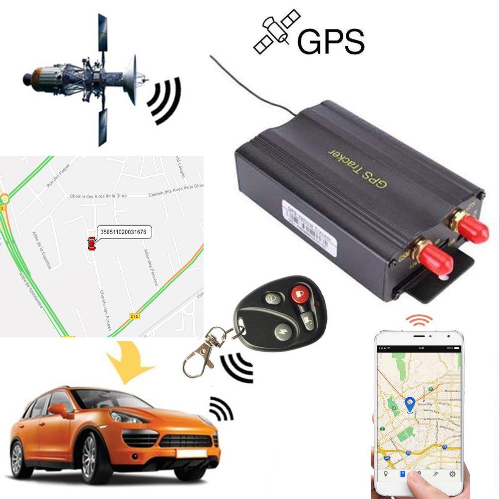 Rastreador GPS SMS TK103B con mando a distancia de control, software versión PC, aplicación de escáner de seguimiento en tiempo real con enlace a Google ...