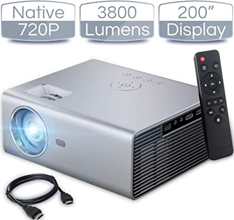 Amazon.com: iCODIS T400 - Mini proyector (3800 lúmenes ...