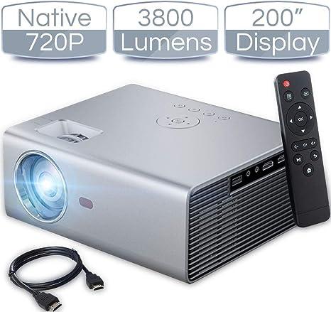Amazon.com: iCODIS T400 - Mini proyector (3800 lúmenes ...
