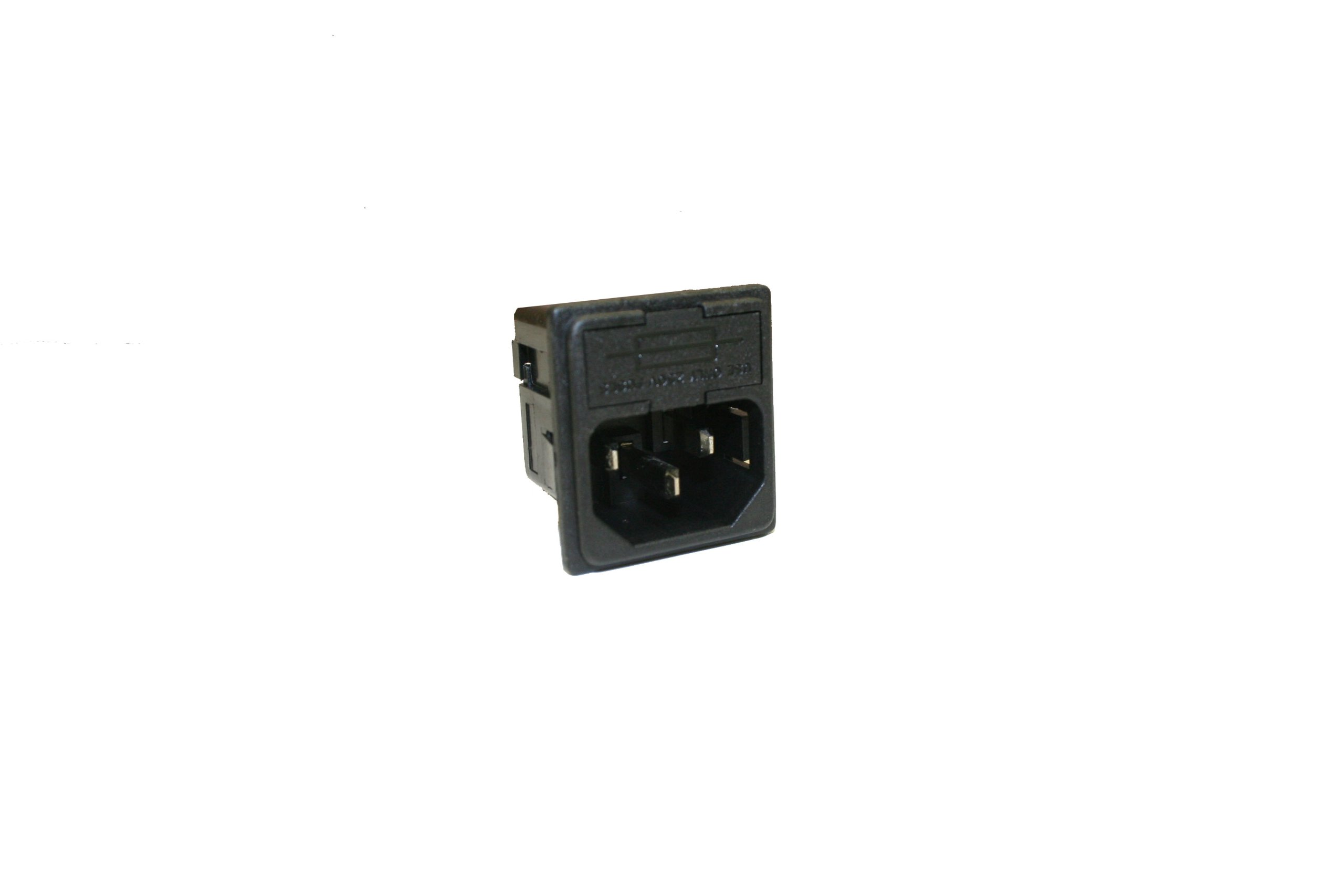 Interpower 83110121 Two Function Single Fused Power Entry Module, C14 Inlet, 1.5mm Panel Thickness, Single Fused, 10A Current Rating, 250VAC Voltage Rating