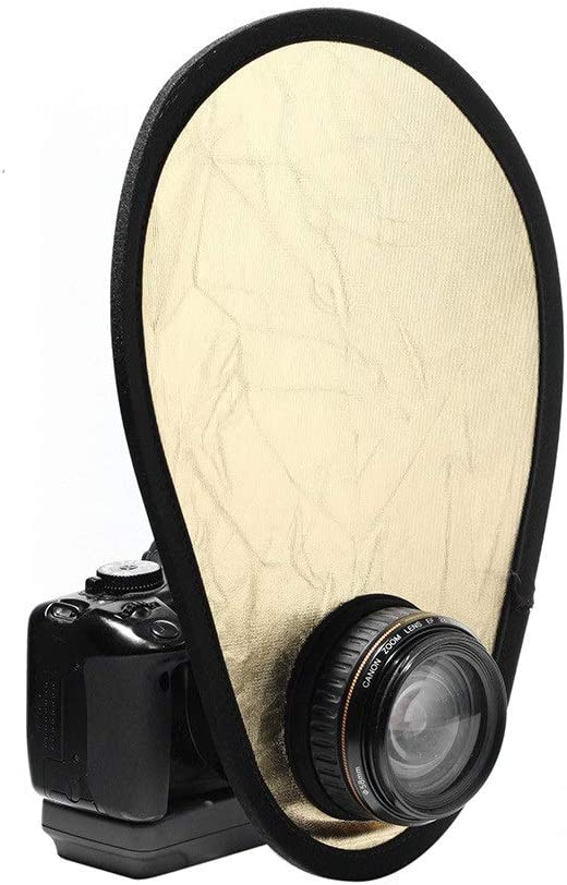 Color : As shown , Size : 30cm Photographic Reflector 2 In 1 Flash Reflector Diffuser Kit Reflectors Studio Reflective Appliances Folding Portable Mini Soft Board With Carrying Bag Reflectors