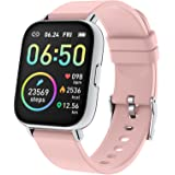 "Rinsmola Smart Watch for Women, 2021 Fitness Tracker 1.69"" Touch Screen Smartwatch Fitness Watch Heart Rate Monitor, IP68 Wat"
