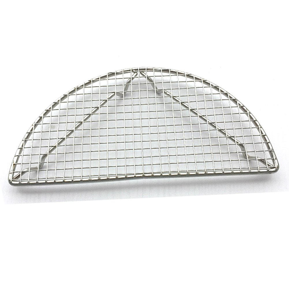Loghot Semi Circle Stainless Steel Cross Wire Cooling Barbecue Racks/Carbon Baking Net/Grills/Pan Grate (Diameter-7.9 Inches)