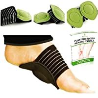 Fitbury 4Pcs Plantar Fasciitis Arch Support & Free eBook, [2 Pairs] Flat Feet Insoles, Plantar Fasciitis Insoles, Plantar Fasciitis Socks & [4 in Pack] Orthotic Insoles for Plantar Fasciitis