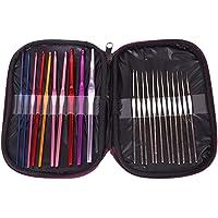 Naitik Creation 22Pcs Crochet Hooks Needle Multicolor Aluminum Crochet Hooks Knitting Needles Set with Case for Sewing Craft Yarn Sweater Woolen Cloth