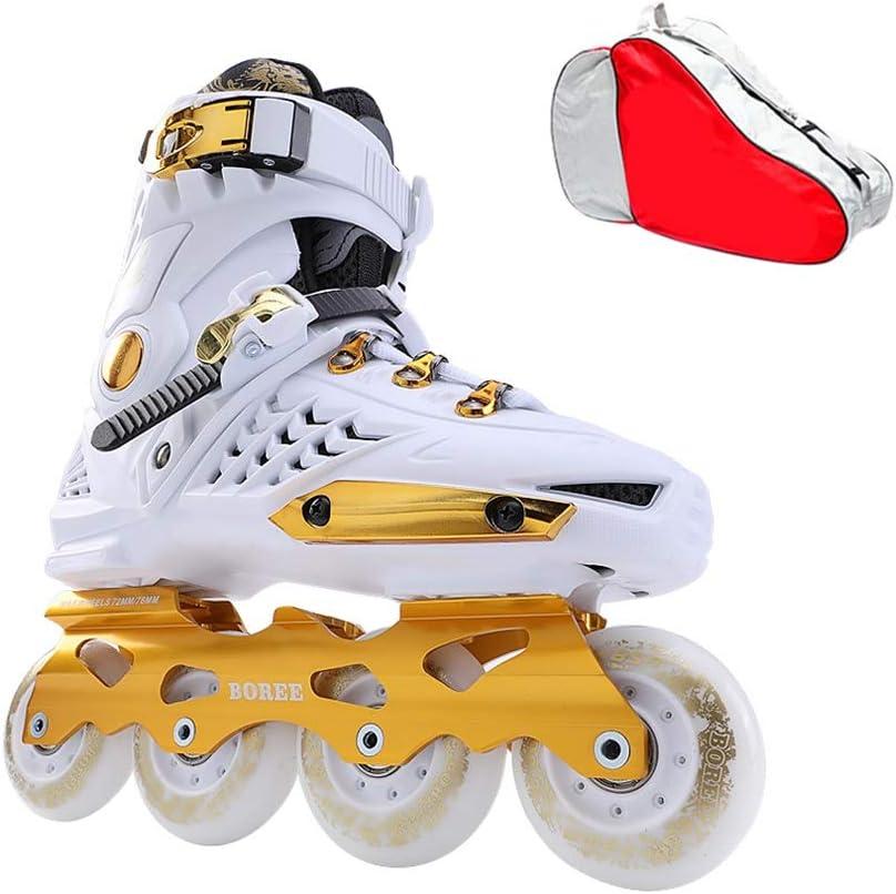 スケート大人のローラースケート靴の男性と女性フラットフラワーローラーシューズブラシストリートストレート (Color : B, Size : EU 41/US/8/UK 7/JP 25.5cm) B EU 41/US/8/UK 7/JP 25.5cm