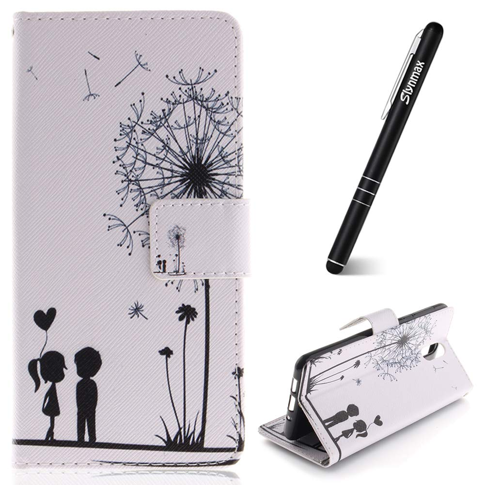Nokia 3.1 2018 Phone Case,Slynmax Magnetic Flip Folio PU Leather Wallet Protective Cover with Magnetic Closure Stand Function Credit Card Holder ID Slots Cash Money Purse Notebook Style Apricot Tree Case Ultra Slim Fit Lightweight Shockproof Smart Shell f