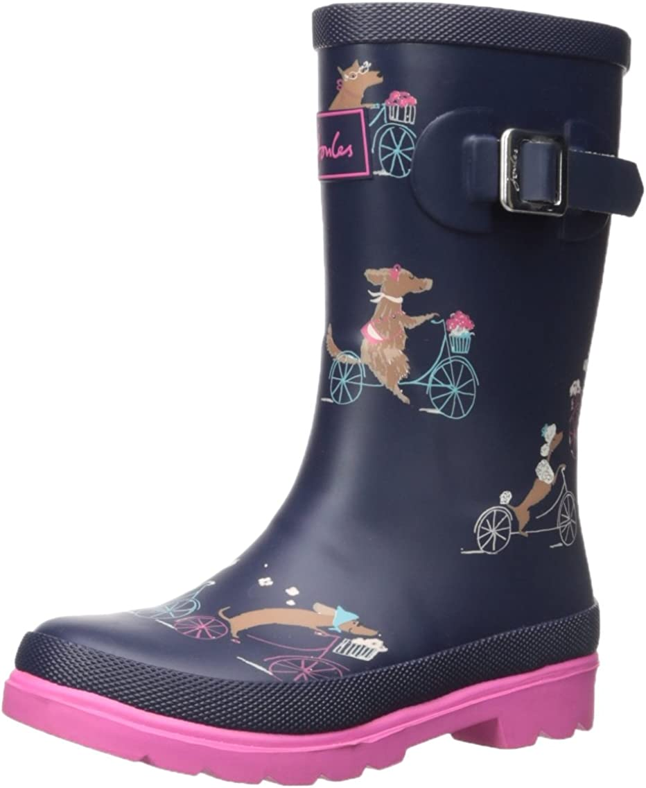 NEW Joules Junior Girls/' Navy Star Wellies Childrens  size 11 and 1