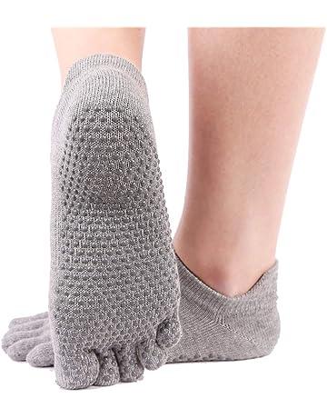 Wenquan,3 pares de calcetines de yoga, calcetines antideslizantes de yoga Pilates