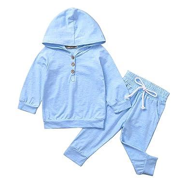 Moneycom - Camiseta de Manga Larga para bebé y niña con Pantalones ...