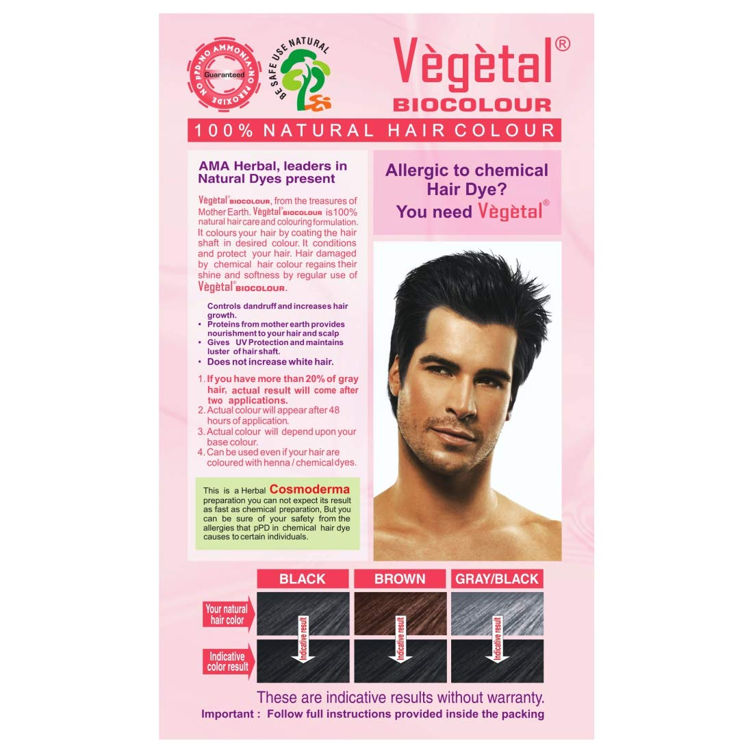 Buy Vegetal Bio Colour Soft Black 50gx 3 Online At Low Prices In