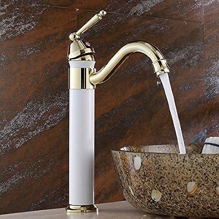 Maifeini High Arch New Deck Bathroom Vanity Pool Mixer Taps Polished ...