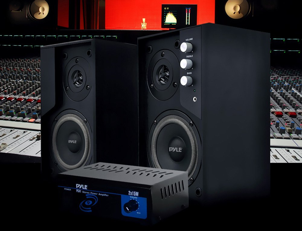 Pyle Home PCA1 30-Watt Stereo Mini Power Amplifier by Pyle