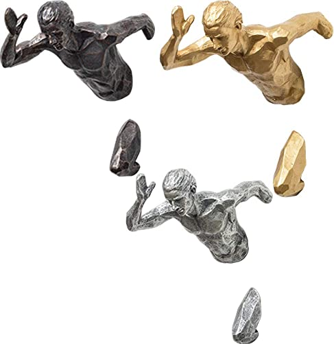 MOCOHANA Running Man Wall Sculpture 3D Wall Art Sport Figurine