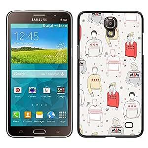 LECELL--Funda protectora / Cubierta / Piel For Samsung Galaxy Mega 2 -- Patrón Jumper Style Ropa --