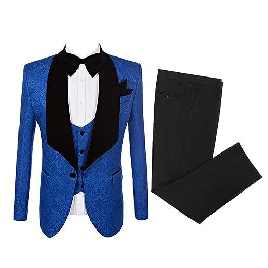 Btaidi Groomsmen Shawl Lapel Man Suit Groom Wedding Men's Blazer Suits  Jacket+Pants+Tie+Vest 3 Set