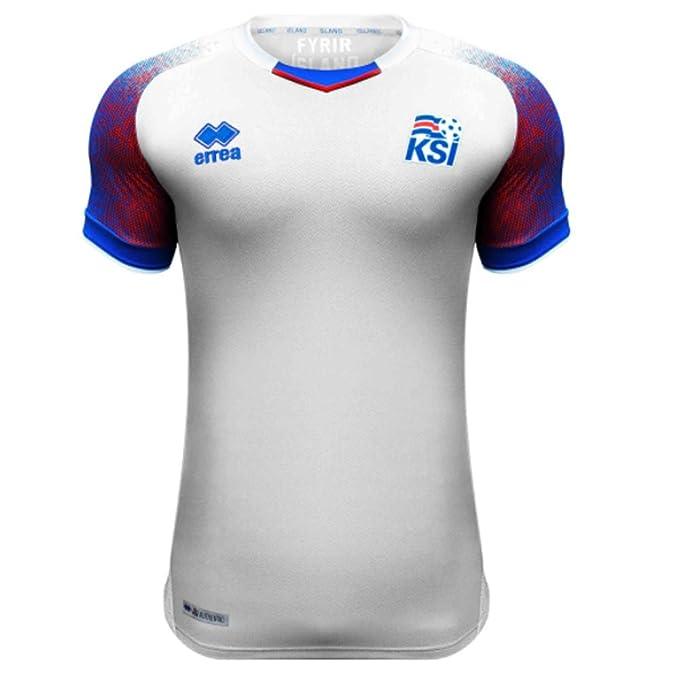 6d09eb738ba Amazon.com : 2018-2019 Iceland Away Errea Football Soccer T-Shirt Jersey (Gylfi  Sigurdsson 10) : Sports & Outdoors