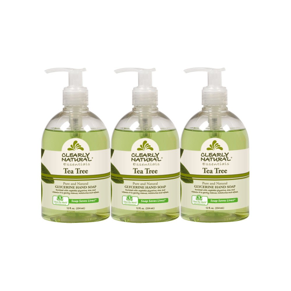 Clearly Natural Tea Tree Liquid Hand Soap, Pack of 3, 12-Ounces Each