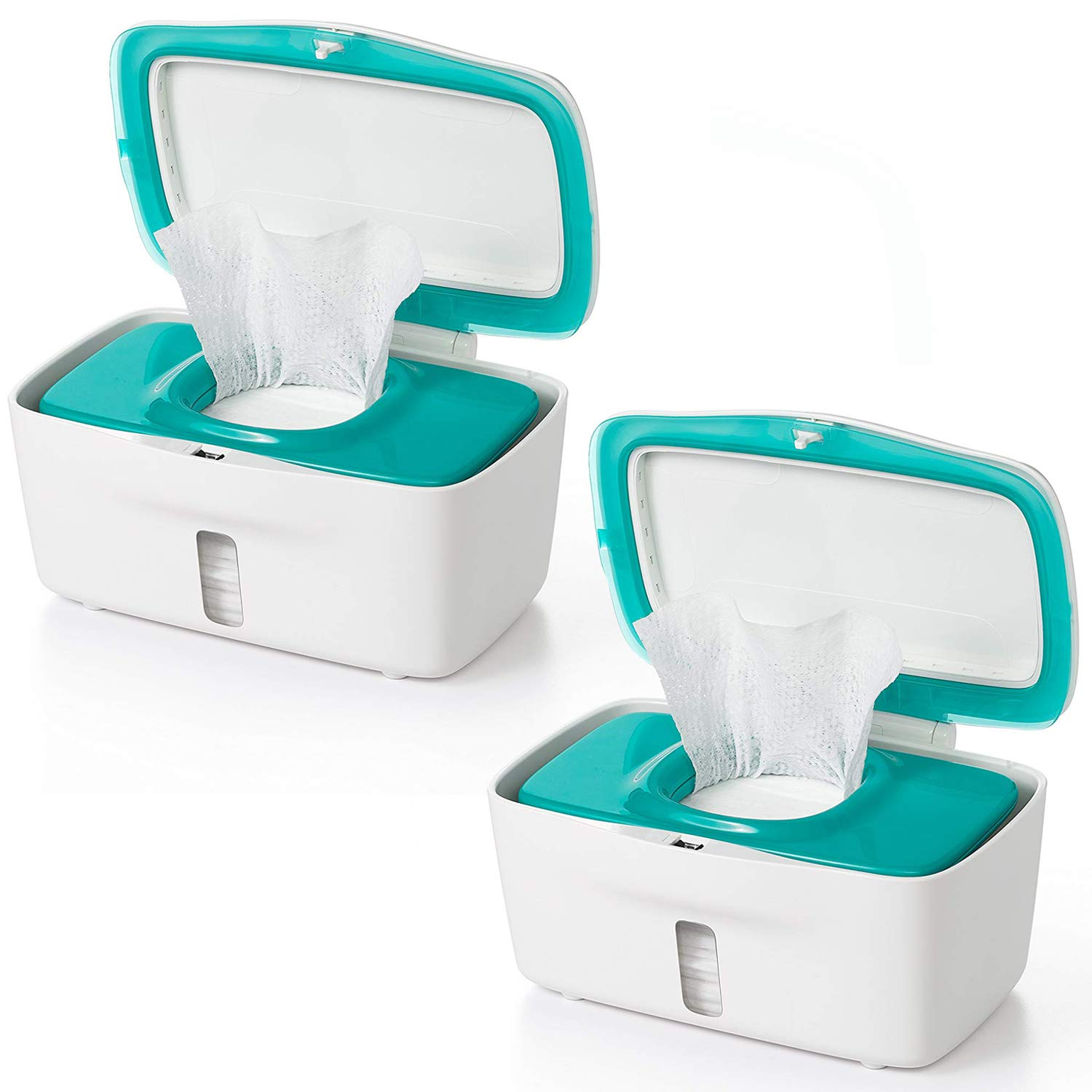 OXO TOT Perfect Pull Baby Wipes Dispenser, Teal - Set of 2 by OXO