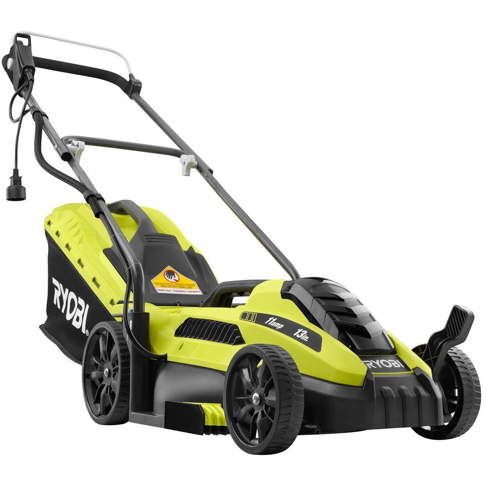 Best Corded Electric Lawn Mower Ryobi 13 in. 11 Amp Corded Electric Walk Behind Push Mower