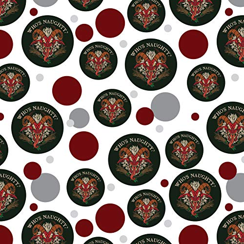 GRAPHICS & MORE Krampus Who's Naughty Christmas Holiday Premium Gift Wrap Wrapping Paper -