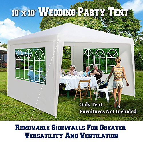 BenefitUSA NG105-300 Wedding Party Tent Outdoor Gazebo with Removable Walls with Windows Canopy by BenefitUSA