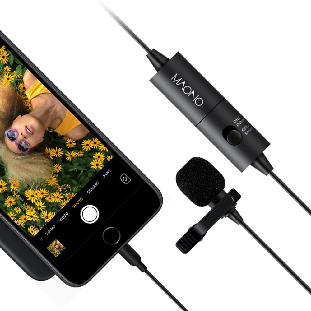 Lavalier Microphone, MAONO AU100 Hands Free Clip-on Lapel Mic with Omnidirectional Condenser for Podcast, Recording, DSLR,Camera,iPhone,Android,Samsung,Sony,PC,Laptop (236 in) by MAONO (Image #8)