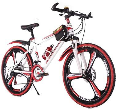 Dsrgwe Bicicleta de Montaña, Bicicleta de montaña, de 26 Pulgadas de Ruedas, Bicicletas Marco de Acero, Doble Disco de Freno y suspensión Delantera: Amazon.es: Deportes y aire libre