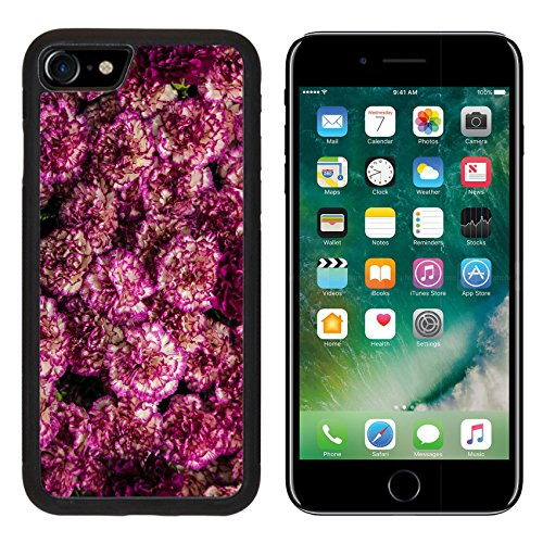 MSD Premium Apple iPhone 7 Aluminum Backplate Bumper Snap Case IMAGE ID 19973281 Maroon flower pattern
