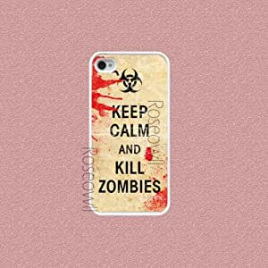iphone 5s case, Keep Calm and Kill Zombiesiphone cases, iPhone 5s Cover, Cool...