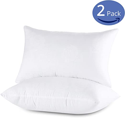 Hotel Quality Microfiber Pillows Extra Filling 100/% Microfiber Pillow Pair