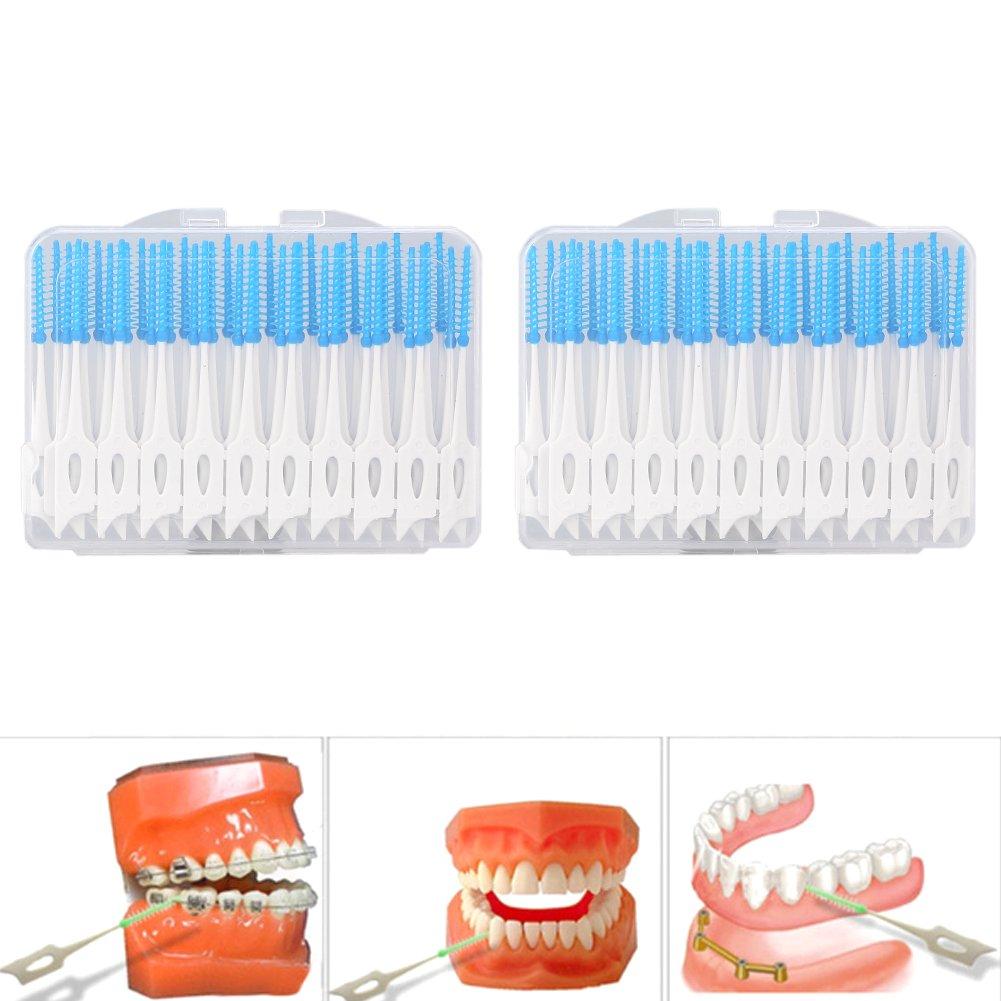 Disposable Toothpicks Soft Interdental Brushes Dental Oral Care Tools 80Pcs/Set Brino