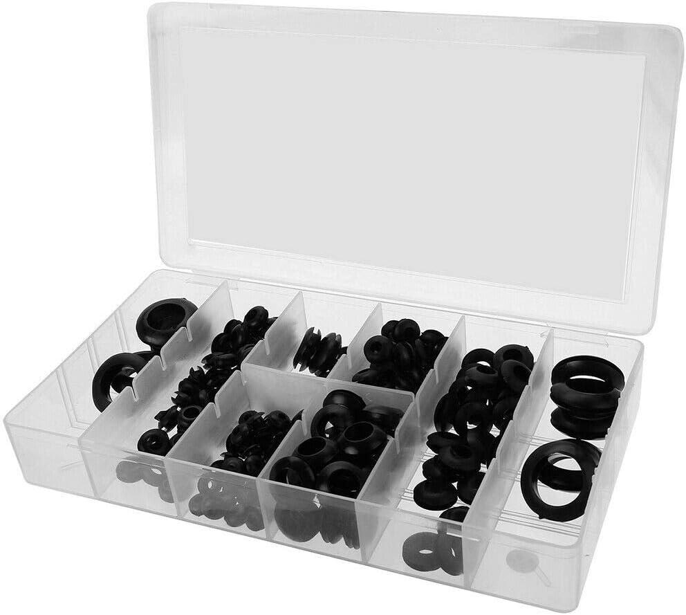 garajes y servicios de fontaner/ía kit surtido de juntas de conductor el/éctrico para talleres personales y profesionales negro SENRISE 200 arandelas de goma