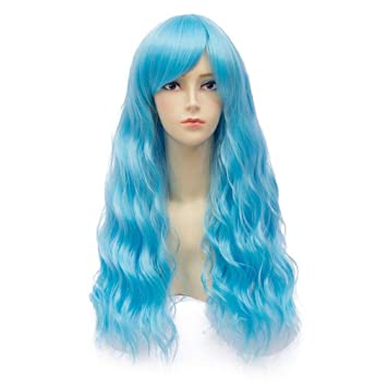 Amazon Com Baisheng Harajuku Fluffy Corn Hot Long Curly Wavy