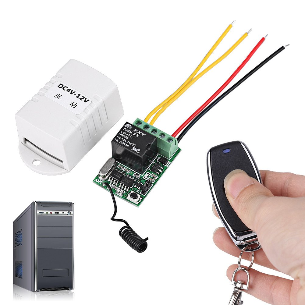 Dc 4v 5v 6v 74v 9v 12v Wireless Relay Remote Control One Key Switch Receiver Transmitter For Computerauto Doorwindow How Can I Power The Es Series With 5 Volts Home Improvement