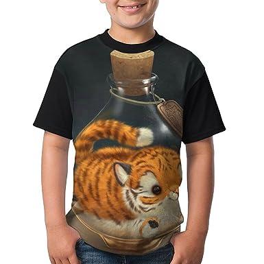 d36528254 Amazon.com: IEHFE MCNXB Lovely Baby Tiger Juniors Raglan Short Sleeve  Lightweight Print T-Shirts Blouses Baseball Shirt: Clothing