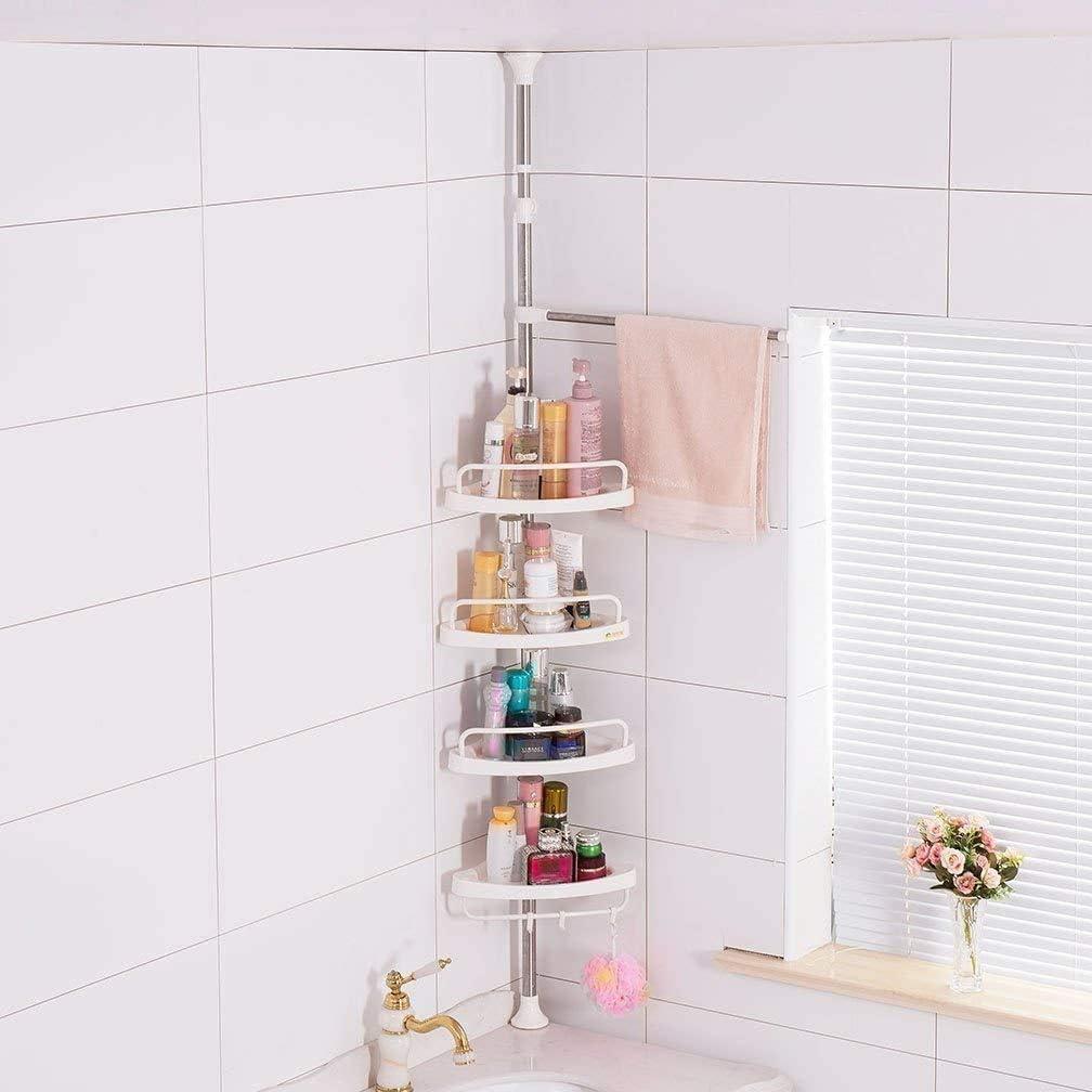 4 Tier Bathroom Corner Shelf Adjustable Telescopic Shower Shelf Shower Corner Rack Stainless Steel Clad Pipe Height Of 63 118 Amazon Ca Home Kitchen