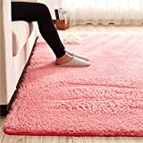 Cheap MAXYOYO Ultra Soft 3.5cm Thicken Sherpa Soft Shag Area Rug Fluffy Living Room Carpet Bedroom Rug 47 by 63 inch Solid Shaggy Area Rug Dining Room Home Bedroom Carpet Floor Mat