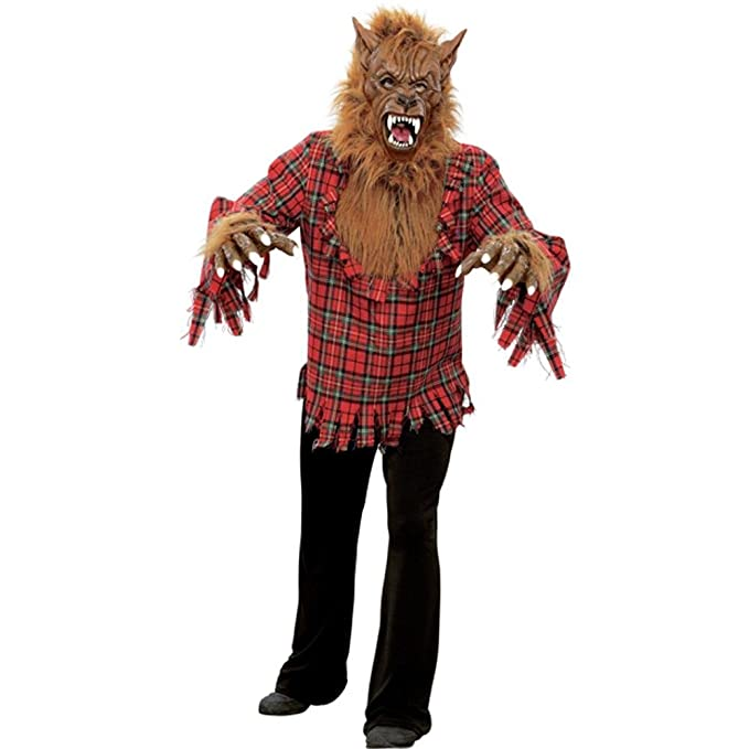 amazoncom adult werewolf halloween costume clothing