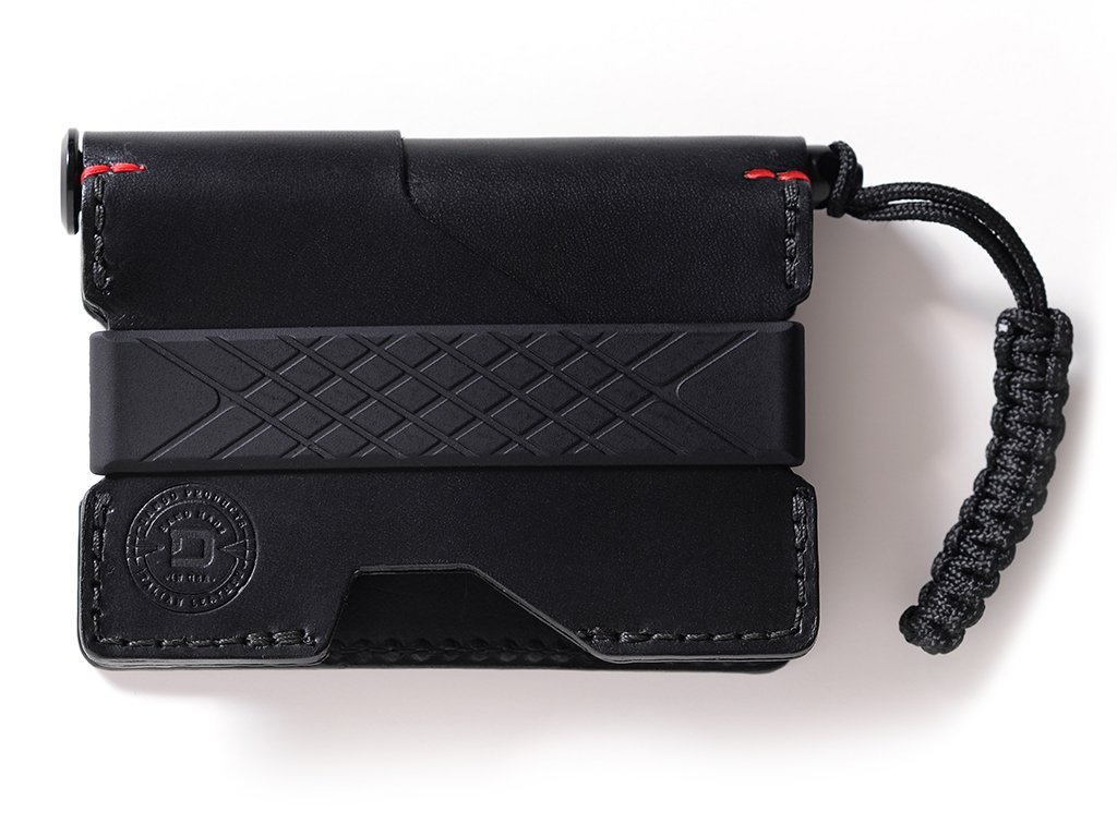 Dango Pioneer EDC Wallet - Made in USA - Italian Veg-Tanned Leather, RFID Blocking, CNC Space Ink Pen, 48-Page Notebook